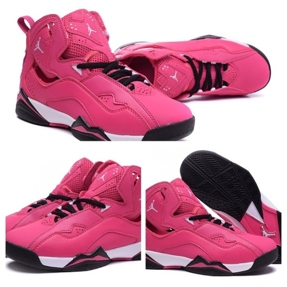 brand new 5be2f 20fef Air Jordan Pink 7 GS Retro Valentine 6Y (lds 7.5)